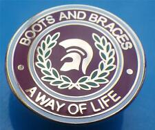 Boots And Braces A Way Of Life Enamel Pin Badge