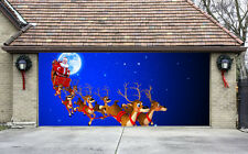 Christmas Garage Door Covers 3D Banners Outside House Decorations Billboard G35