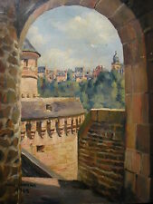 PIERRE CHAPLANN 1941*FRANKREICH*FRENCH ARTIST*VIEW OF A OLD TOWN*ALTE HIST.STADT