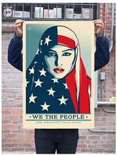 WE THE PEOPLE GREATER THAN FEAR 24 X 36 LITHOGRAPH  : OBEY SHEPARD FAIREY TRUMP