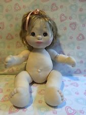 "Mattel My Child Child Girl Ash Blonde Hair Brown Eyes ""Beautiful"" China"