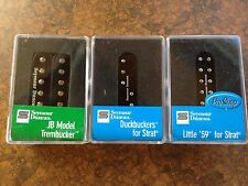 Seymour Duncan JB, SL59 Little 59, SDBR Duckbucker Pickup Set For Strat Black