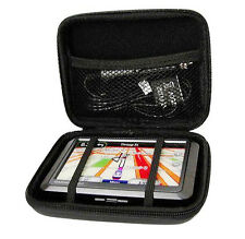 "Hard Shell Carry Case Cover Bag Pouch For 7"" TomTcom Garmin In Car GPS Sat"