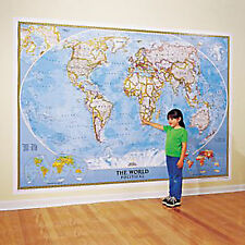 WORLD MAP - NATIONAL GEOGRAPHIC - 110x76 WALL MAP MURAL Classic style