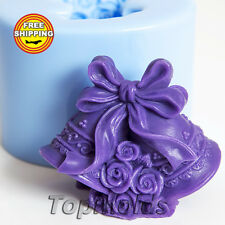 Bells 3d Food-grade silicone soap Mold Silicone Mold Free Shipping