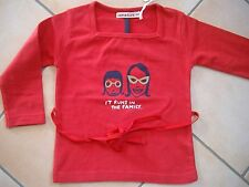 """(84) Imps & Elfs BABY SHIRT per associare con stampa """"it runs in the family"""" gr.80"""