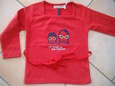 """(84) Imps & Elfs Baby Shirt zum Binden mit Druck """"it runs in the family"""" gr.80"""