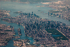 New York City Scenery Poster 12x18 Inch Art Silk Fabric Print For Decor 101