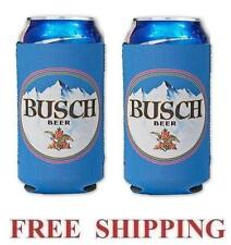 BUSCH BEER 2  16oz BEER CAN COOLERS KOOZIE COOLIE PINT HUGGIE POUNDER NEW