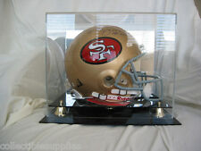 Deluxe Full Size Football Helmet Display Case UV Protected w Mirror - Brand New!