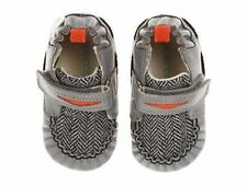 NIB ROBEEZ Mini Shoez Shoes Luke Gray Orange Penny Loafer 3-6m 2