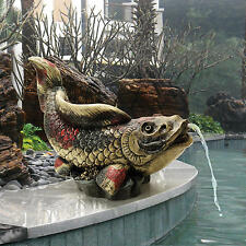 Asian Symbol of Grace Koi Fish Pond Home Garden Water Feature Ready Piped Statue