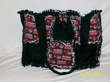The Walking Dead Red Gray Handmade  Rag Quilt Diaper Bag Tote Purse