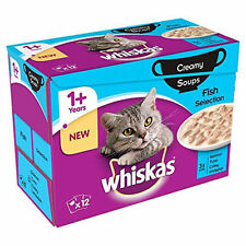 Whiskas 1+ Cat Pouches Creamy Soup Fish 12x85g