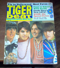 Tiger Beat Magazine 1968 The Who Monkees Davy Jones Raiders Nazz Bee Gees