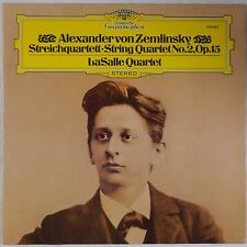 ZEMLINSKY: String Quartet LaSalle DGG 2530 982 Vinyl LP NM Germany