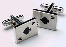 Mens Ace Of Spades Casino Card Cufflinks & Gift Box By Onyx Art