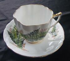 Royal Prince Bone China England Wild Fern Pattern Demitasse Tea Cup & Saucer Set