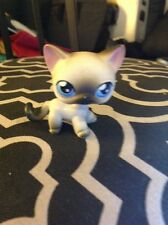 LITTLEST PET SHOP # 5 GREY & WHITE SIAMESE CAT W/ BLUE EYES Rare HTF 2004 LPS