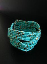 Bracelet Turquoise Stretch Boho Tribal Ethnic Bohemian Arabic Folk Gypsy