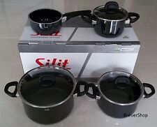 Silit Modesto Kochtopfset  4 tlg mit Stielkasserolle