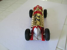 HUBLEY # 22 RACE CAR CAST IRON COMPLETE RESTOR.COLOR RED & GOLD VERY NICE CAR