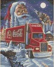 Counted Cross Stitch COCA-COLA TRUCK WITH SANTA - COMPLETE KIT  #25vc-311