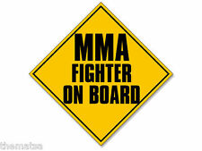 "5"" MMA FIGHTER ON BOARD HELMET CAR TOOLBOX BUMPER DECAL STICKER MADE IN USA"