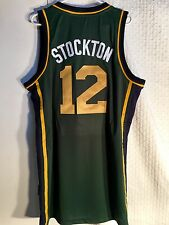 Adidas Swingman NBA Jersey Utah Jazz John Stockton Green Alt sz 4XL