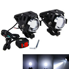 2 X 125W 3000lm Motorcycle U5 LED Driving Headlight Fog Lamp Spot Light