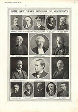 1916 WWI PRINT ~ NEW YEAR'S HONOURS 1915 LORD MERSEY NORTON BOOTH RUSSELL