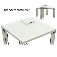 10'x10' Square2-Tier Gazebo Canopy Replacement Waterproof UV Protected Top Cover