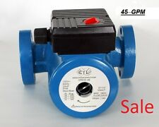 45 GPM 3 speed Circulating Pump use with indoor outdoor furnaces, hot water heat