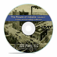 Indiana IN Vol 2 People Cities Family History and Genealogy 103 Books DVD CD B37