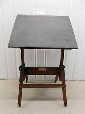 Vintage Antique 1940's Hamilton Manufacturing Co Wooden Drafting Board Table 200