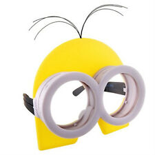 DESPICABLE ME MINION MINIONS COSTUME GOGGLES GLASSES W/ YELLOW  HEAD GOOGLE MASK