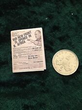 Newspaper circa 1943 1:12 scale dolls house miniature handmade