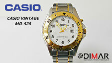 VINTAGE CASIO MD-528 ILLUMINATOR QW.1335 WR.100 Ø43mm