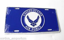 UNITED STATES AIR FORCE USAF WINGS EMBLEM LICENSE PLATE 6 x 12 inches