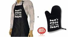 Men Ladies Women Apron&Oven Gloves Set Cooking Chef Kitchen Dont Mess with Chef