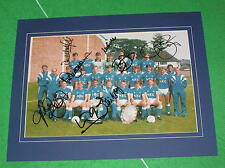 Everton FC 1987/88 Squad Photo Signed x 8 & Mounted Harvey Sharp Steven Southall