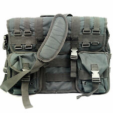 Black Tactical Molle Military Nylon Laptop Field Briefcase Padded Shoulder Bag