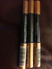 Lot of 3Covergirl Flamed Out Eye Liner Shadow Stick Pencil Crayon 330 GOLD FLAME