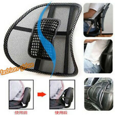 Black Cool Vent Cushion Mesh Back Lumbar Braces Support Car Office Chair Seat