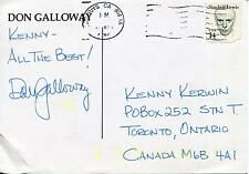 DON GALLOWAY ACTOR IN IRONSIDE / DALLAS & MATLOCK SIGNED PHOTO CARD AUTOGRAPH