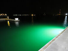 1 (75 watt) 3400 Lumens (Green) Led Underwater dock light+waterproof transformer