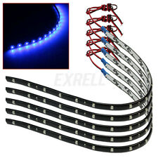 5x 30CM Strisce 15 LED SMD 3528 Blu Striscia Flessibile Impermeabile Auto Tuning