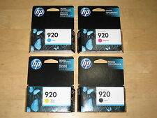New Genuine Retail HP 920 4 ink cartridge Set Officejet 6000 6500 6500A 7000 OEM