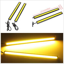 2x Auto SUV 17cm 12V Yellow COB LED Waterproof  Light Strip Fog Driving Lamp
