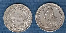 Suisse - 1 Franc 1914 en Argent - Switzerland
